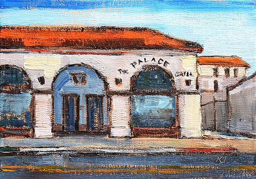 Palace Grill Santa Barbara Painting