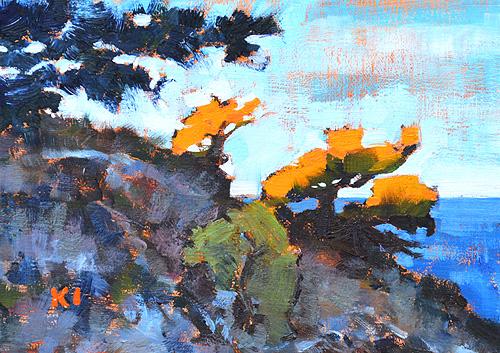 Torrey Pines Del Mar Landscape Painting