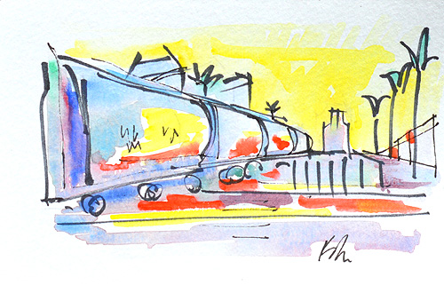 San Diego Watercolor Painting Art