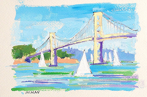 San Francisco Bay Bridge Painting