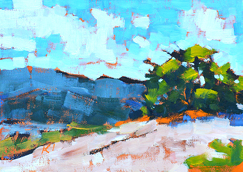 Laguna Canyon Landscape Painting Plein Air