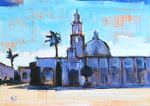 Balboa Park Museums Painting, San Diego