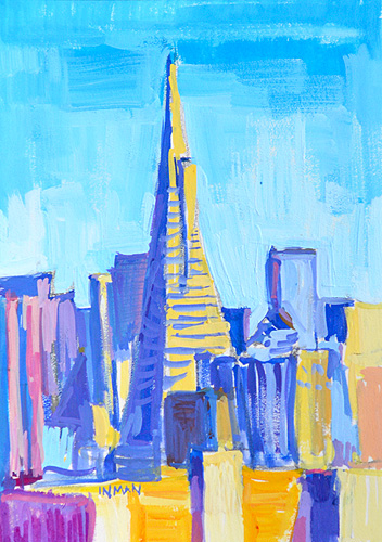 San Francisco Painting Transamerica Pyramid Skyline