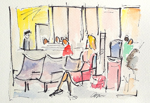 Airport Layover Painting Los Angeles