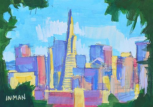 San Francisco Skyline Painting