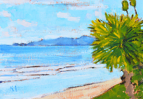 Butterfly Beach Santa Barbara Painting