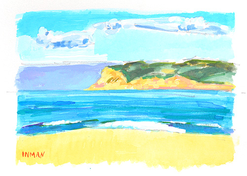 Coronado Beach Painting Watercolor San Diego