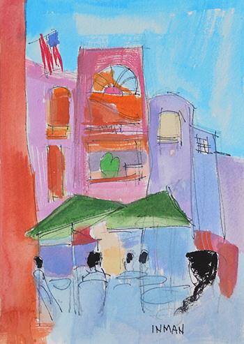 Horton Plaza San Diego Painting