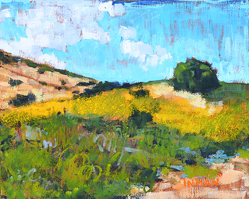 Laguna Beach Landscape Painting Crystal Cove State Park