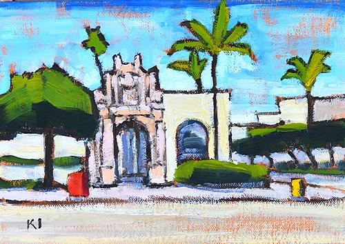 Plaza de Panama Balboa Park Painting San Diego