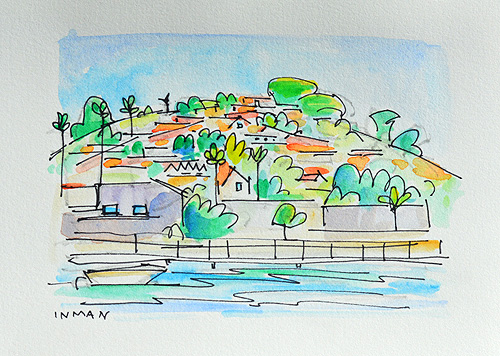 Point Loma San Diego Watercolor Painting