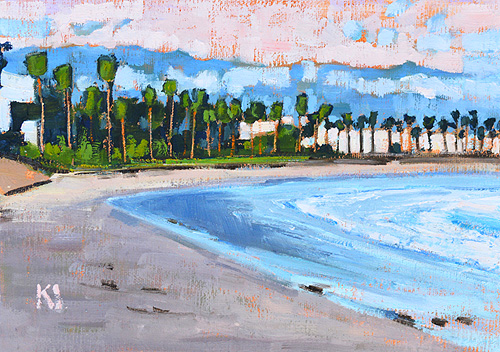 Santa Barbara Beach Painting Leadbetter