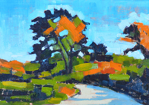 Torrey Pines, San Diego, California Landscape Painting