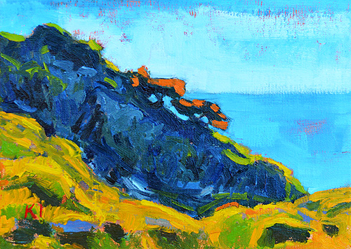 Torrey Pines Landscape Painting San Diego