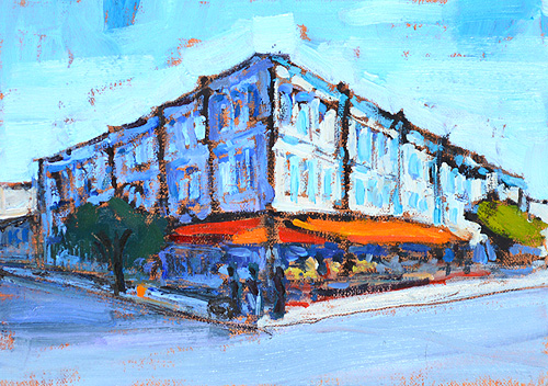 Gaslamp Quarter San Diego Painting