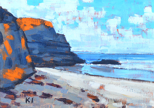 Blacks Beach Landscape Painting Del Mar