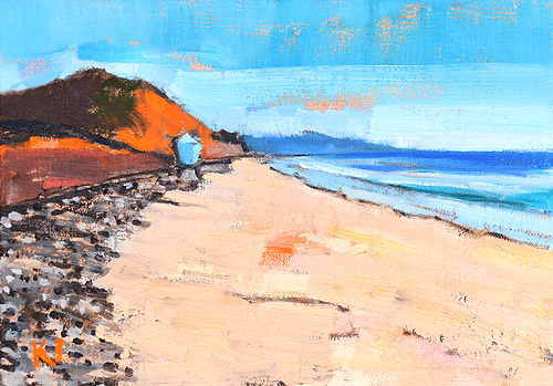 Del Mar Beach Painting San Diego