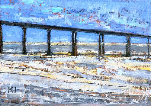 Ocean Beach Painting OB Pier San Diego