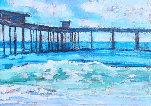 Ocean Beach Painting Pier San Diego