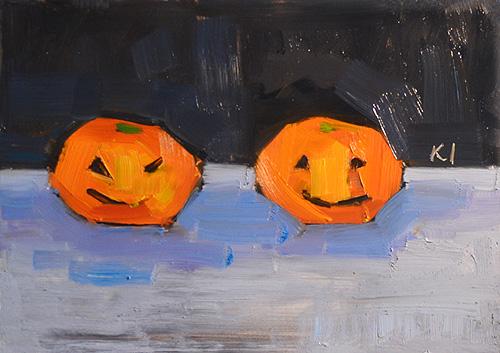 Jack O Lantern Still Life Oranges