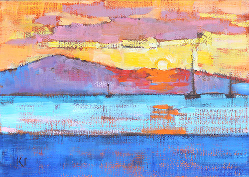 Santa Barbara Beach Painting Dawn