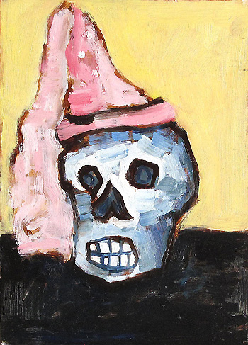 Skull in a Hat Still Life Painting