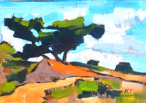 Torrey Pines Painting Del Mar California Original Oil Landscape