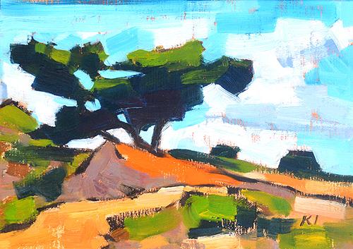 Torrey Pines Painting Del Mar California Original Oil Landscape