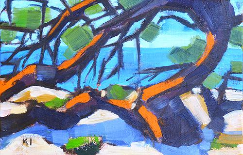 Torrey Pines Landscape Painting Del Mar