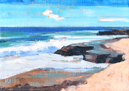 Windansea, La Jolla Beach Painting