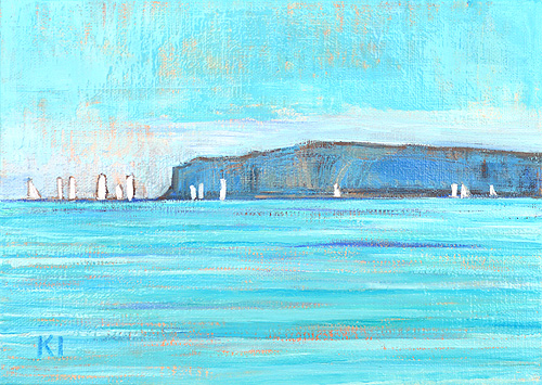 Dana Point Sailboat Orange County Coast Painting