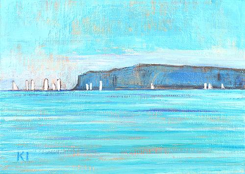 Dana Point Sailboat Orange County Coast Painting