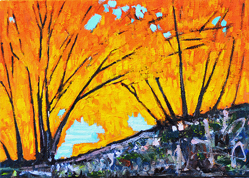 Fall Leaves Painting San Diego Landscape
