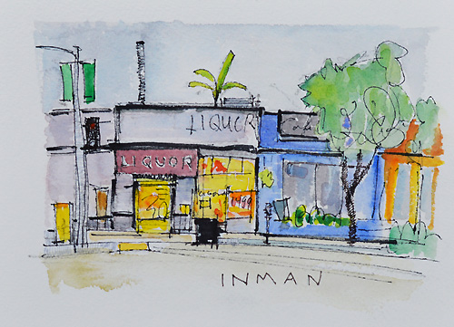 Mission Hills San Diego Watercolor Painting