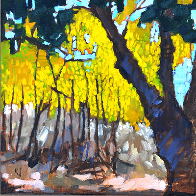 Yellow Leaves Landscape Temecula Painting