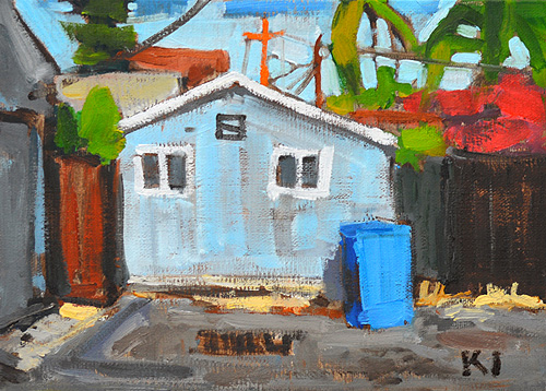 San Diego Alley Painting
