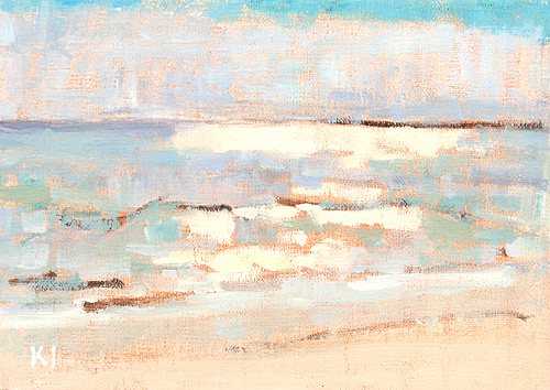 Laguna Beach Sunset Painting Crystal Cove