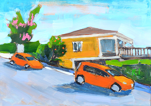 Orange House, Orange Priuses South Park San Diego