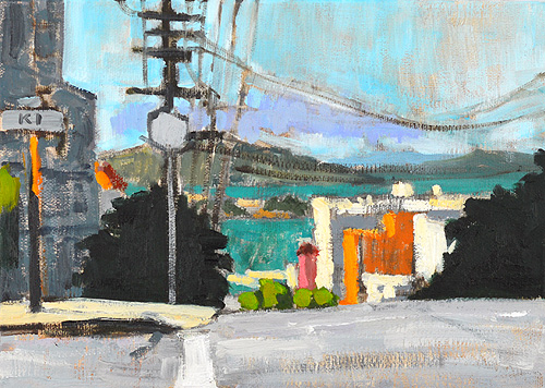 San Francisco Painting Russian Hill Alcatraz