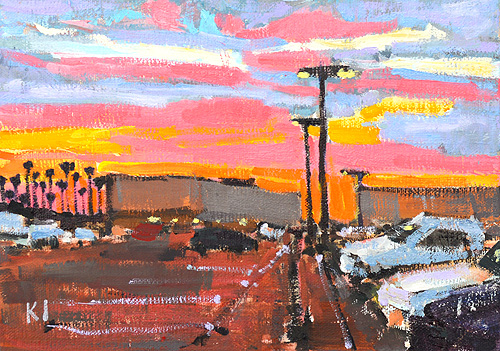San Diego Sunset Painting
