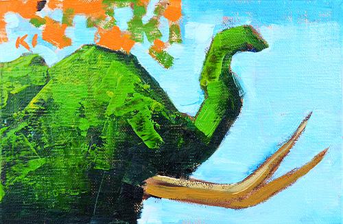 Elephant Topiary San Diego Zoo Painting