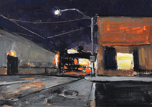 San Diego Night Painting Barrio Logan
