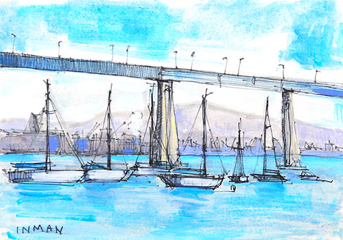 San Diego Bay Industry Painting