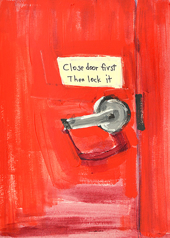 Red Door Painting