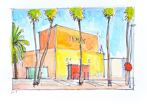 North Park Watercolor Painting San Diego