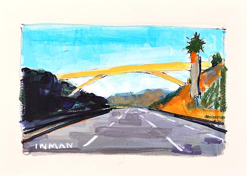 Rainbow Bridge Painting, aka Lilac Bridge San Diego