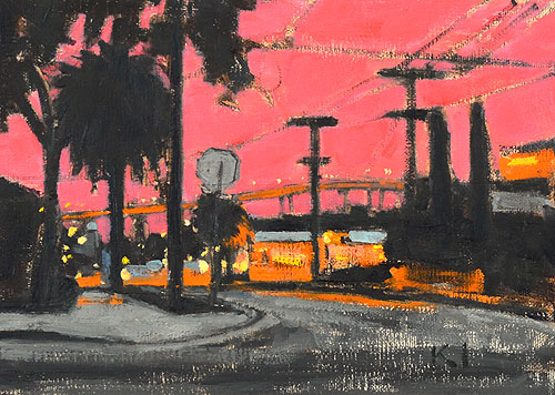 Sherman Heights San Diego Sunset Painting