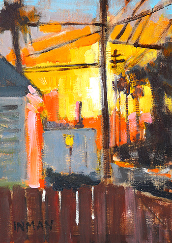 Sunset San Diego Urban Landscape Painting