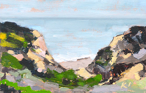 Del Mar Torrey Pines Painting Seascape
