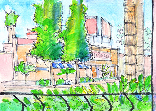 San Diego Watercolor Painting Hillcrest
